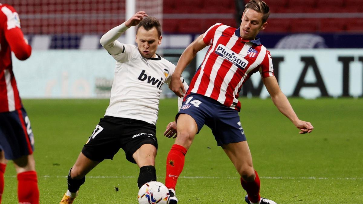 Las imágenes del Atlético de Madrid - Valencia CF