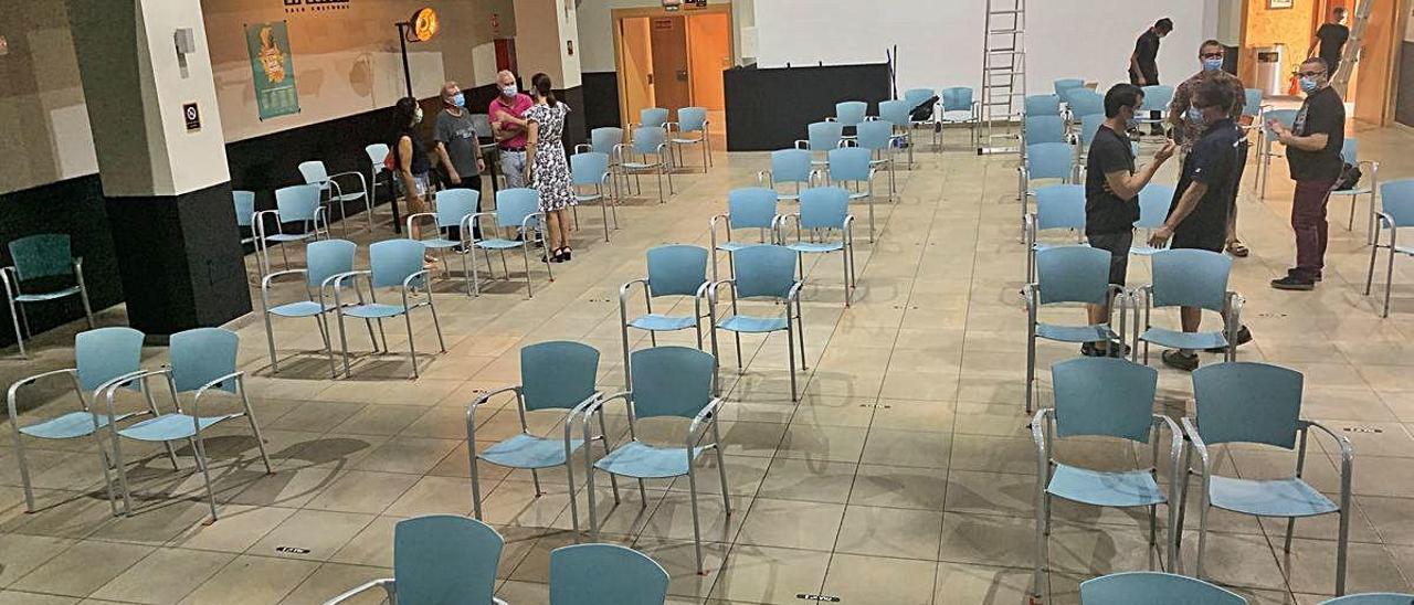 Aspecto que presentaba ayer la sala cultural La Llotja.