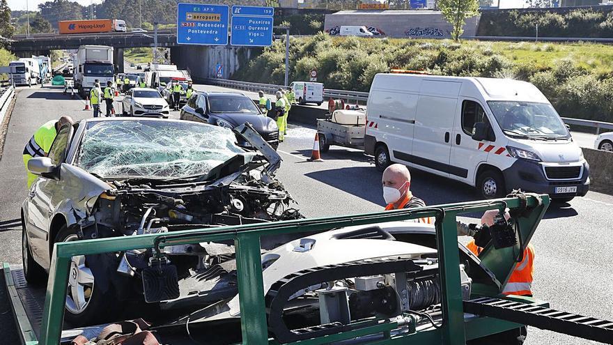 Una septuagenaria fallece en un accidente tras entrar en la AP-9 en sentido contrario
