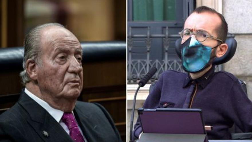 """Echenique: """"Menudo día ha elegido Juan Carlos I para confesar que ha defraudado a Hacienda"""""""