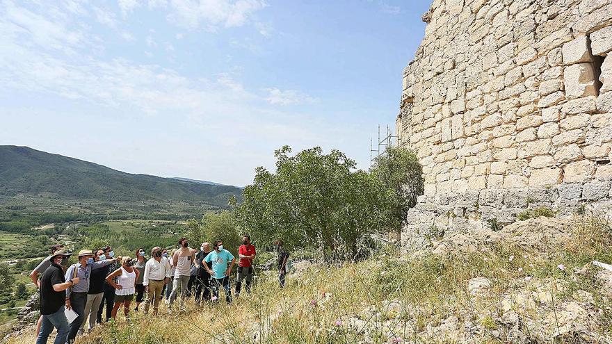 Las obras en el castillo de Perputxent en l'Orxa permiten consolidar la estructura