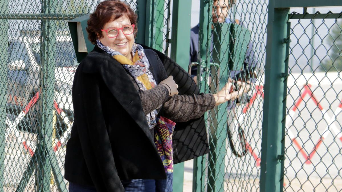 L'exconsellera, el primer dia que va sortir de permís, el 17 de febrer passat.