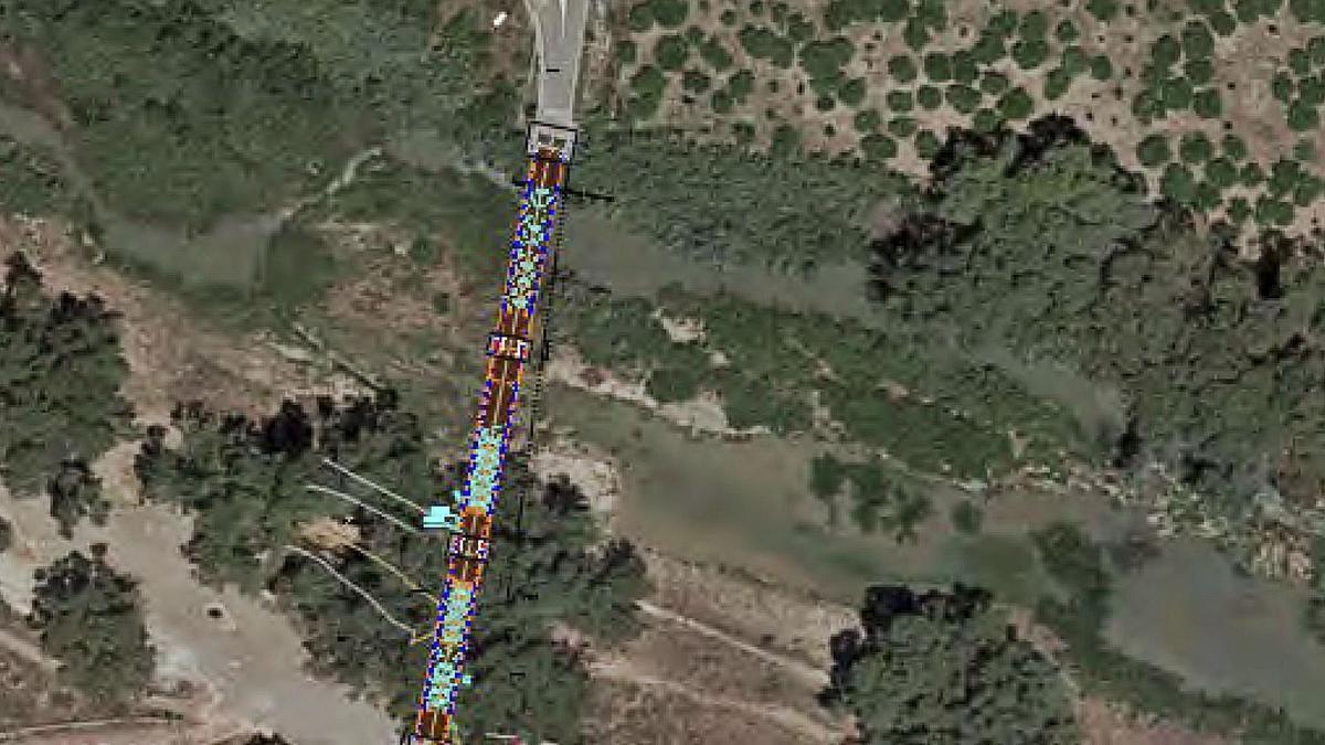 Zona donde se construirá lapasarela peatonal en el Guadalhorce
