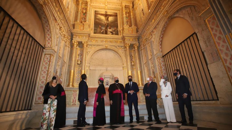El Cabildo inaugura la profunda restauración de la capilla del Espíritu Santo de la Mezquita