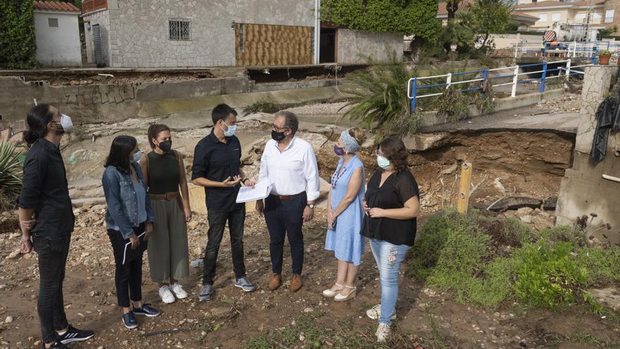 Diputación pedirá declarar zona catastrófica Benicàssim y Vinaròs por las inundaciones