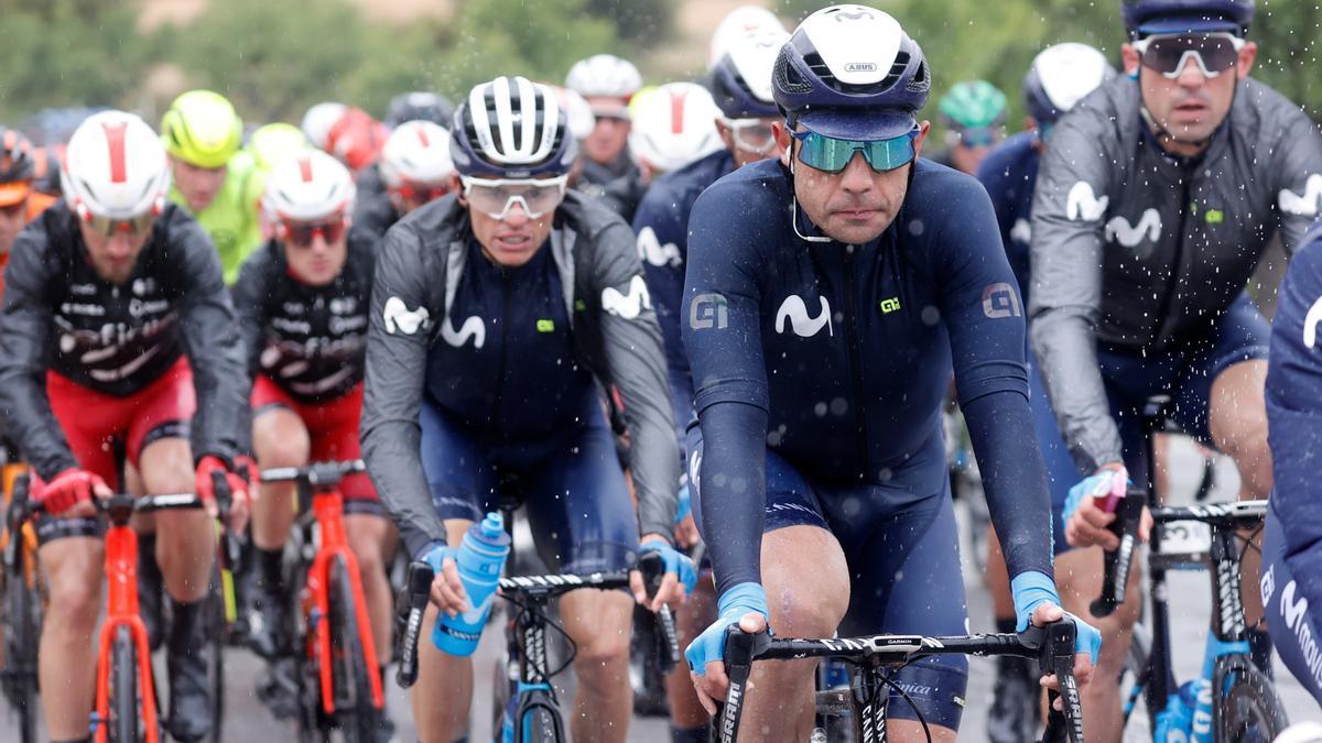 Sebastián Mora, en una de las primeras etapas de esta Volta a la Comunitat Valenciana.