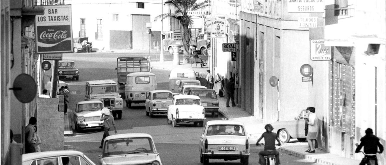 Vista del barrio de Guanarteme en los años 70, 30 años después del suceso.