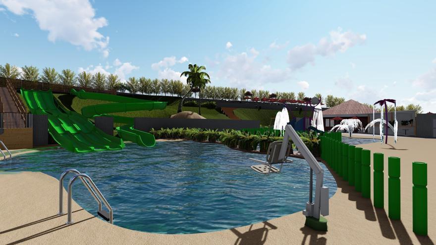 Corvera abrirá en Las Vegas el primer parque acuático municipal de Asturias