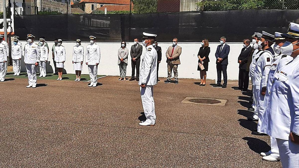 Acto de toma posesión del nuevo capitán de la Comandancia Naval del Miño.