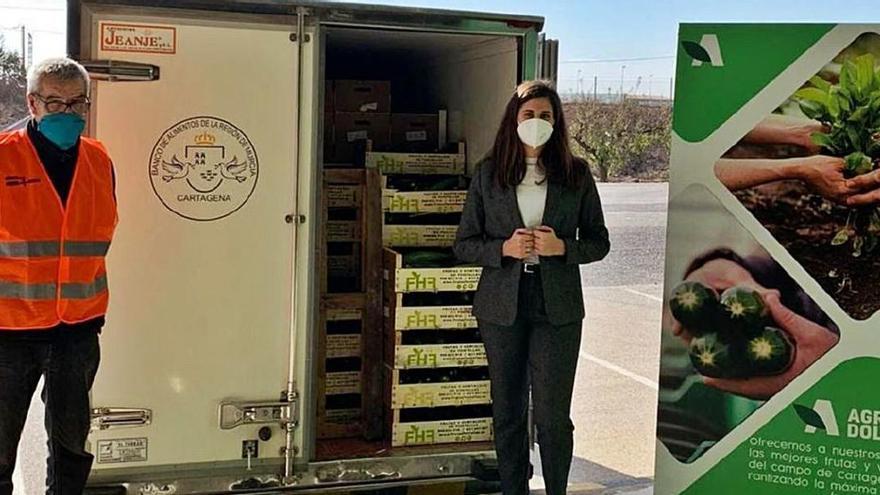Agrodolores dona 1.700 kilos de calabacín al banco de alimentos