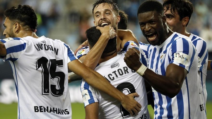 El Málaga CF acaba la jornada a dos puntos del play off