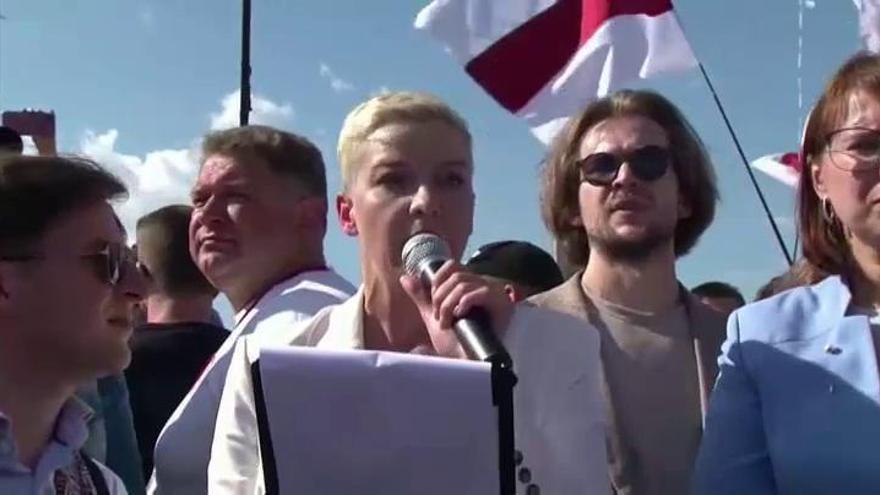 Los interrogantes rodean la detención de Kolesnikova, líder opositora en Bielorrusia