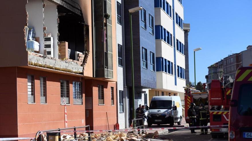 Estado en el que quedo la vivienda tras la explosión.