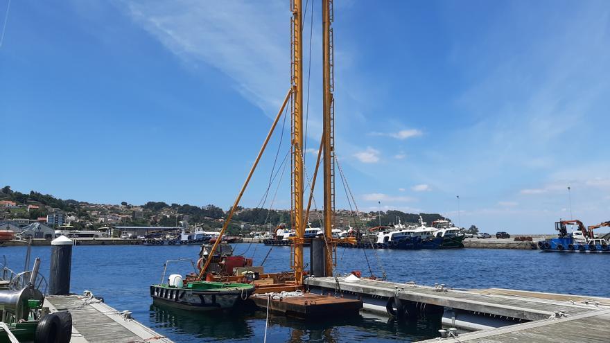 Portos de Galicia adapta uno de los pantalanes de Bueu a las necesidades de la flota