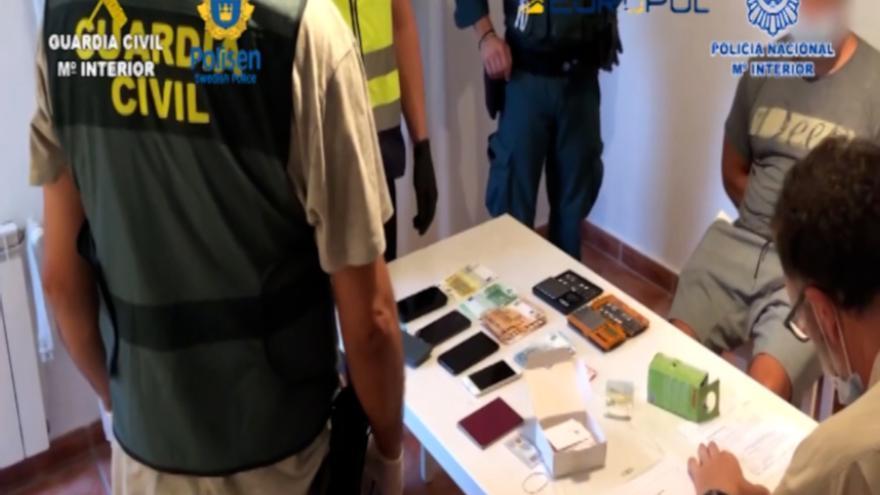 Detinguts 71 membres d'una xarxa de narcotraficants que operava entre Espanya i Suècia