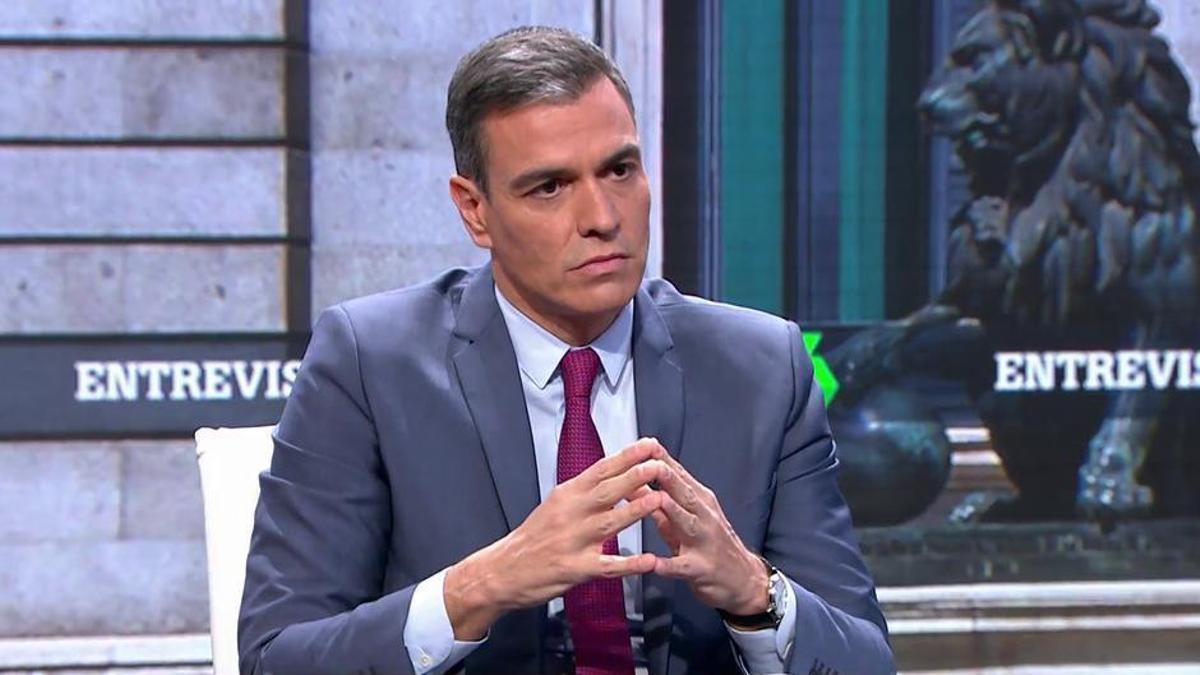 El presidente del Gobierno, Pedro Sánchez, en la entrevista en La Sexta.