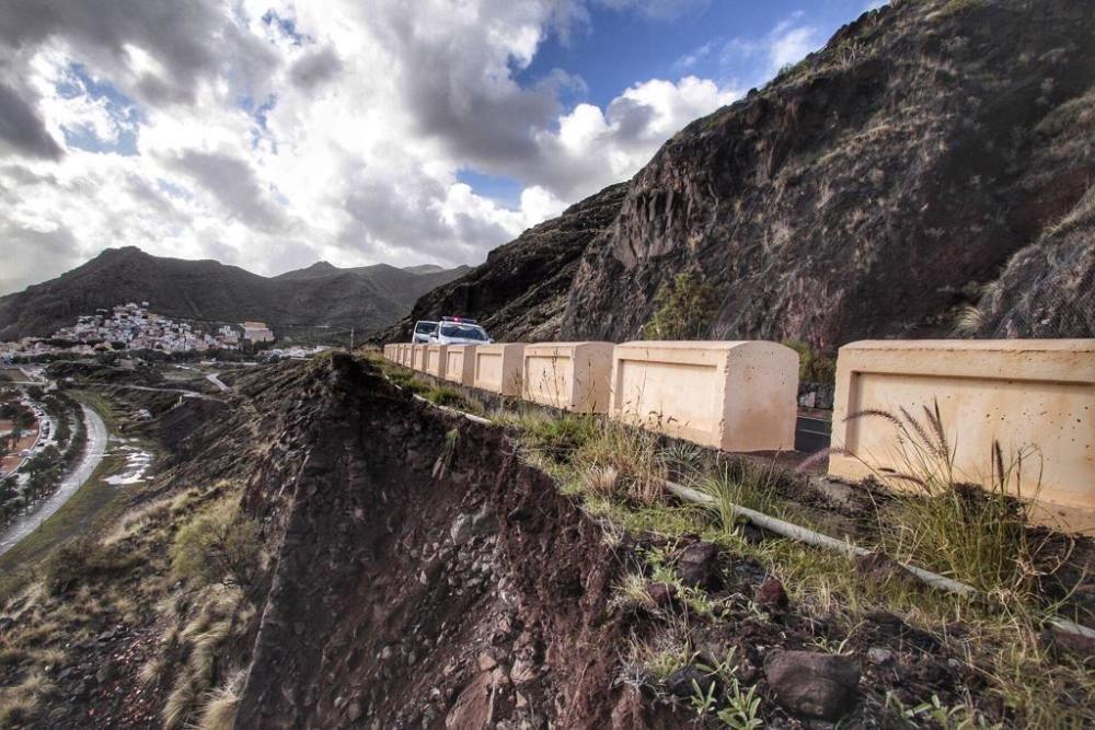 Desprendimientos en Anaga por el temporal