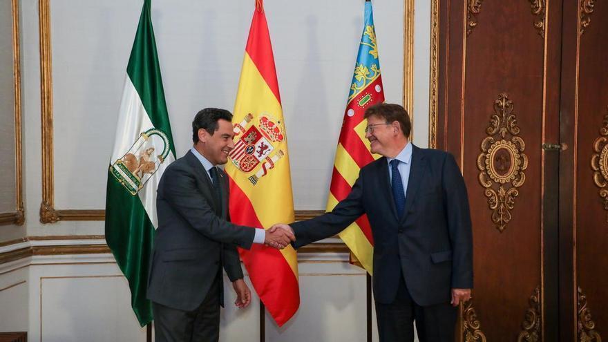Puig y Moreno Bonilla sellan su alianza para poner fin a la infrafinanciación
