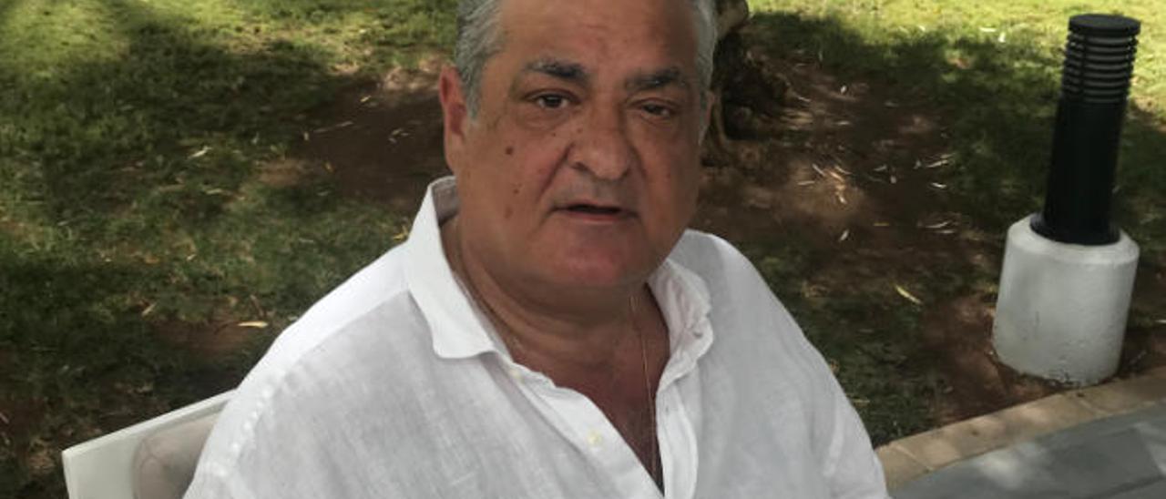 Manolo Saiz, durante su estancia en el sur de Gran Canaria.