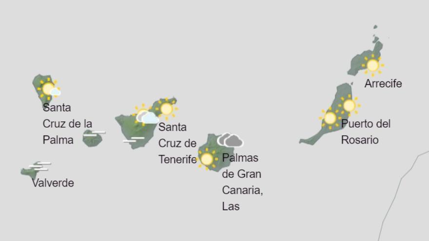 Gran Canaria espera lloviznas este viernes