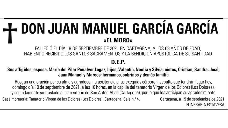D. Juan Manuel García García