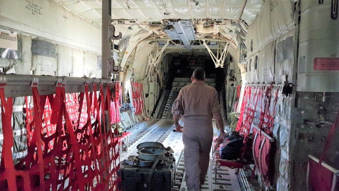 interior del C 130-J del Ej�rcito del Aire de Italia 2.jpg