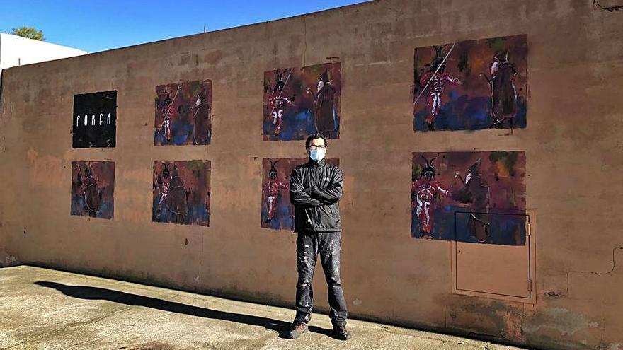 Sant Antoni salta al arte urbano con Sath