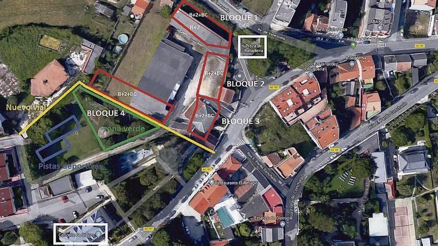 Dueños recibirán 280.000 euros al derribarse tres casas, almacenes y nave en A Rabadeira