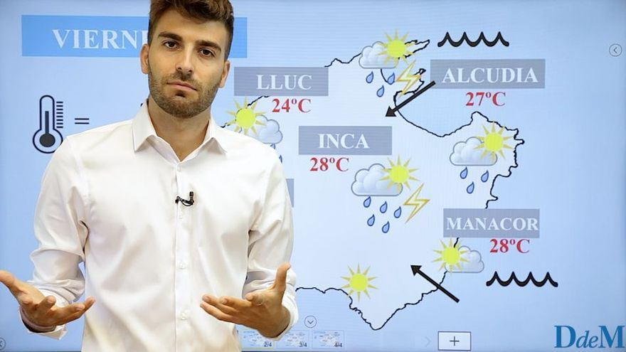 El tiempo del fin de semana en Mallorca: sol, aguaceros y tormentas