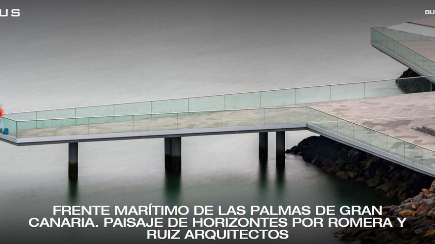 El frente marítimo de la ciudad atrae el interés de revistas de arquitectura
