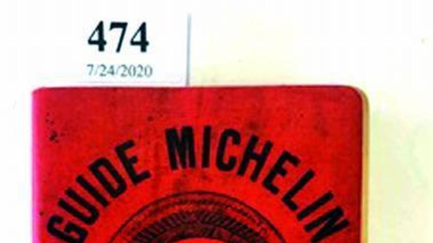 El precio más alto pagado por un ejemplar de la 'Guía Michelin': 26.500 euros