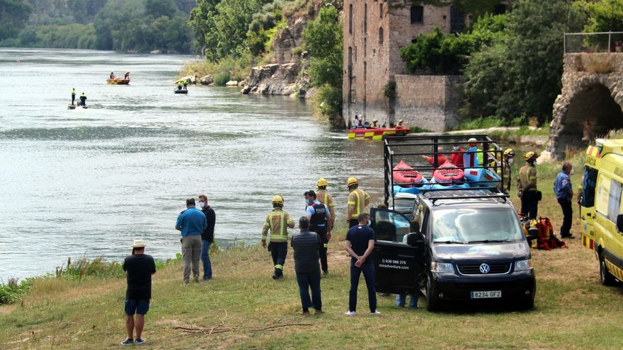 Busquen un adolescent desaparegut que ha caigut al riu Ebre a Miravet