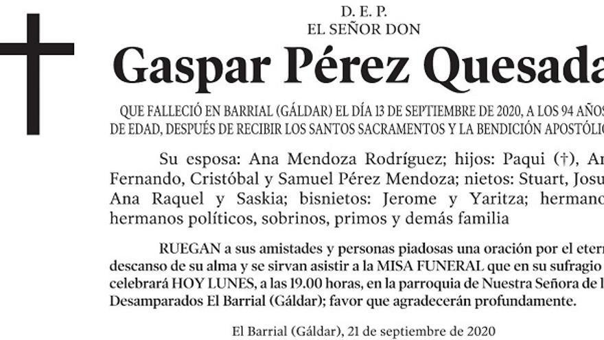 Gaspar Pérez Quesada
