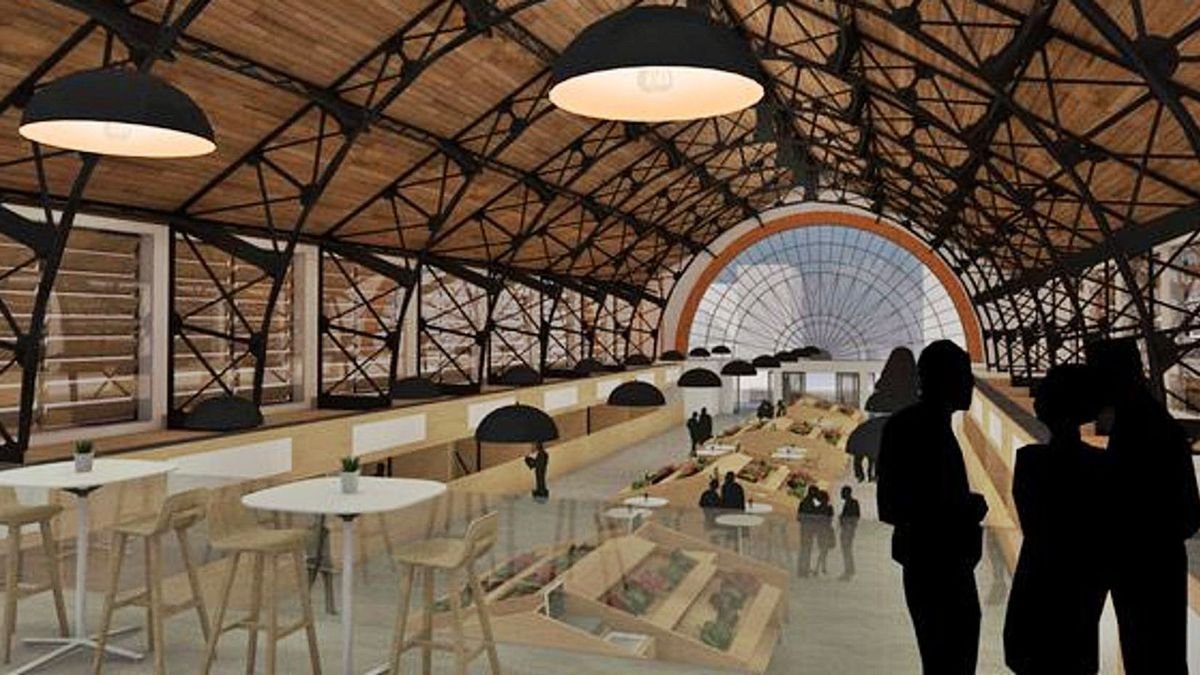 Recreación del interior del Mercado de Abastos tras la remodelación prevista por el Ayuntamiento de Zamora. | Proyecto Domínguez y Girón