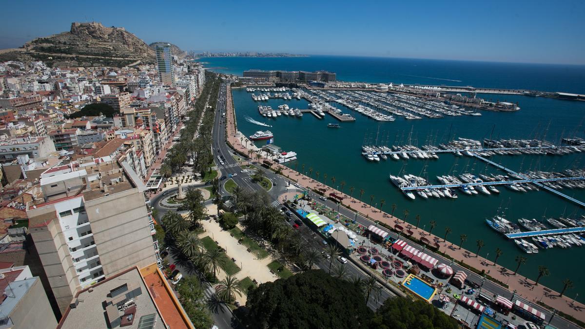 Vista aérea de Alicante.