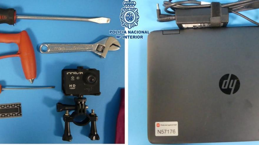 La Policía Nacional auxilia a un joven inconsciente en Huesca y le pilla con objetos robados