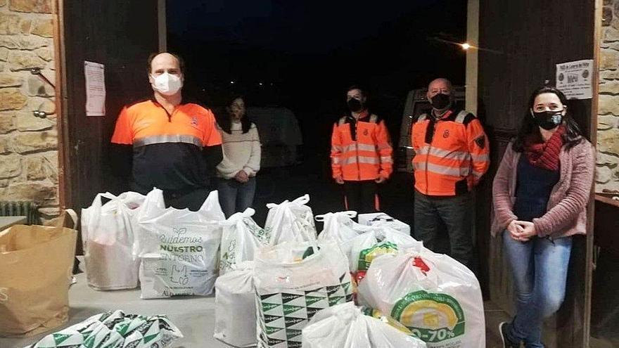 """El proyecto vecinal """"Valle Solidariu"""", de Villaviciosa, reúne 1.700 kilos de alimentos"""
