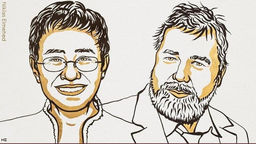 Dos periodistes guanyen el premi Nobel de la Pau 2021
