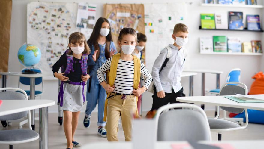 Un algoritmo muestra cuántos alumnos infectados puede haber en un aula