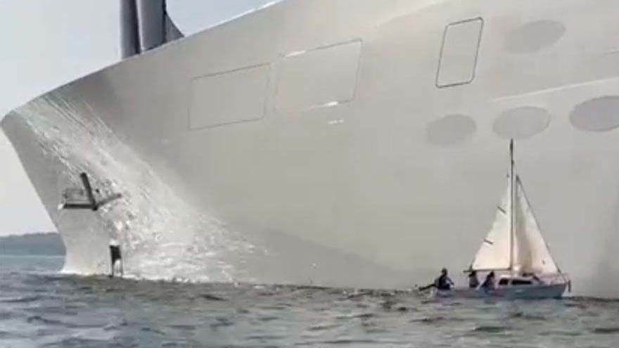 """Investigación marítima en Vigo: ¿Quién chocó contra el supervelero """"A""""?"""