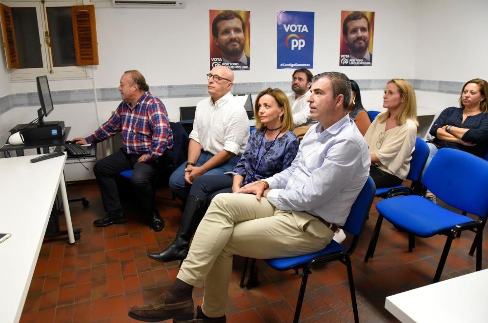 El PP en Canarias espera los resultados en su sede