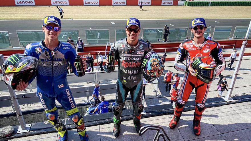 Joan Mir echa del podio a Valentino Rossi