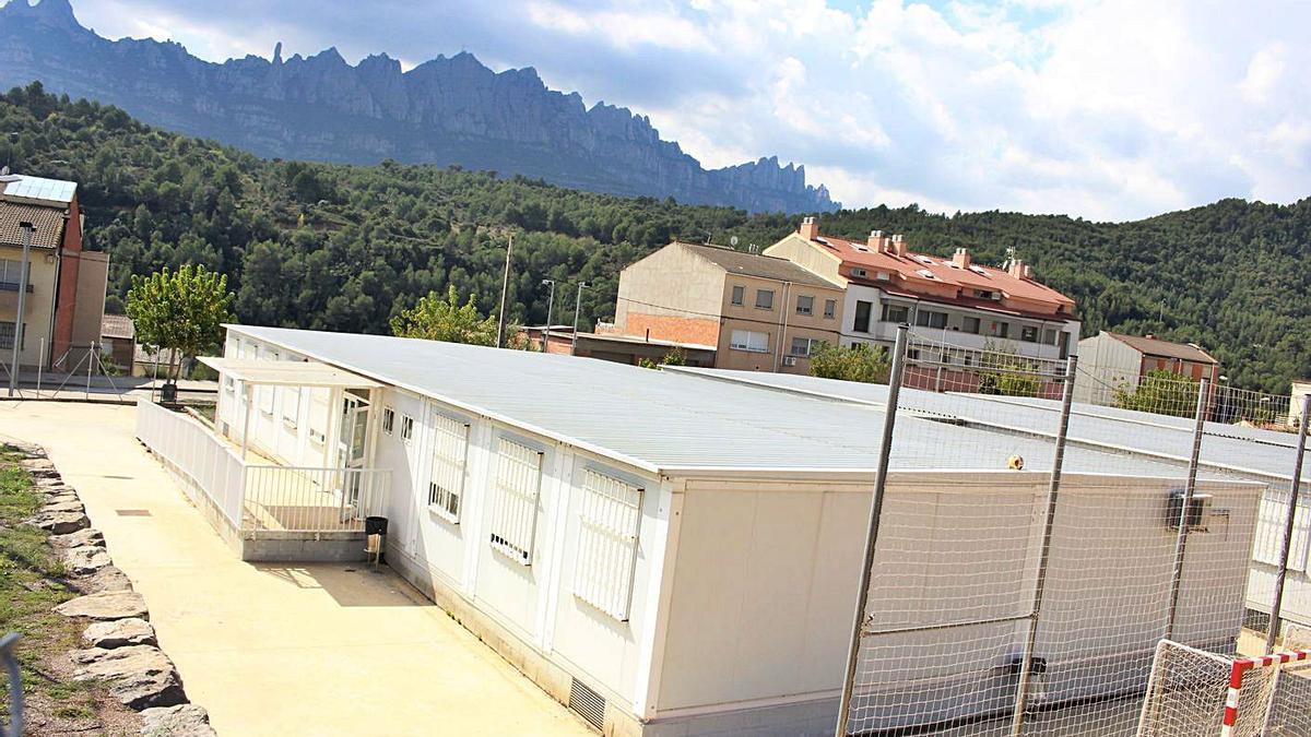L'Institut Bages Sud de Castellbell funciona en mòduls prefabricats des que es va crear el 2009 | ARXIU/ALAN RUIZ TEROL