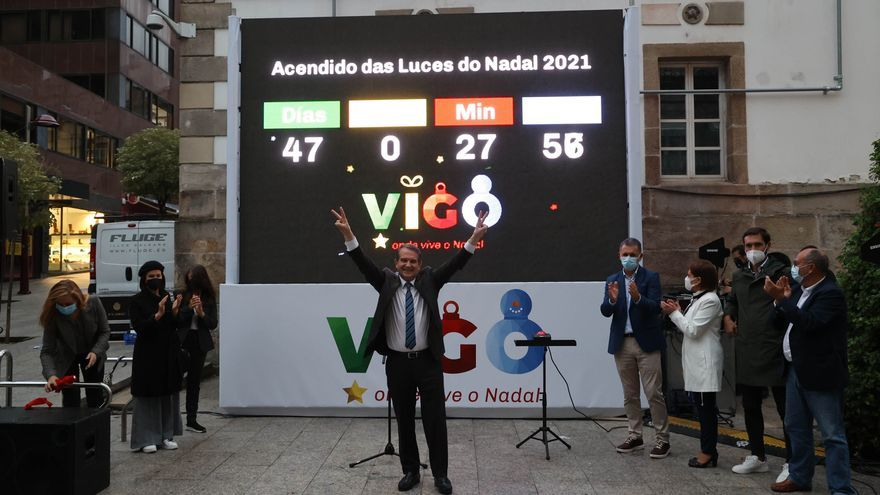 Caballero desvela el coste de la factura de la luz de la Navidad en Vigo