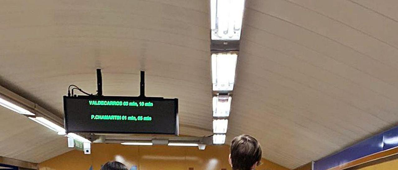 Fotografía realizada en la estación de Bilbao del Metro de Madrid.