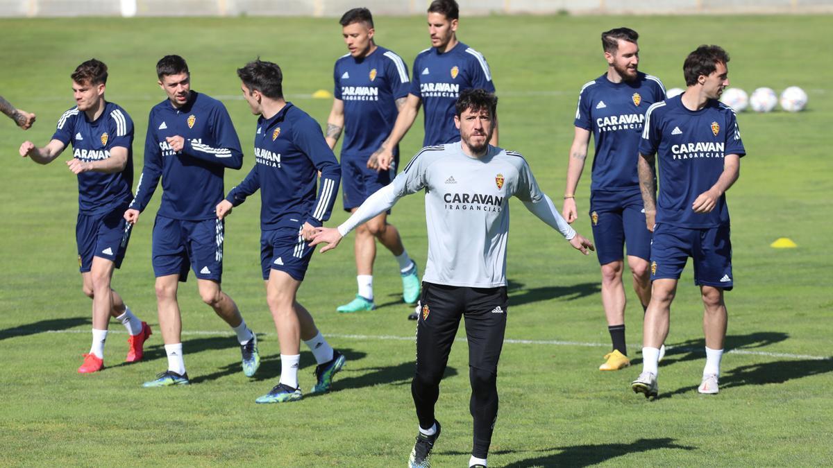 Cristian, durante un entrenamiento en la Ciudad Deportiva.