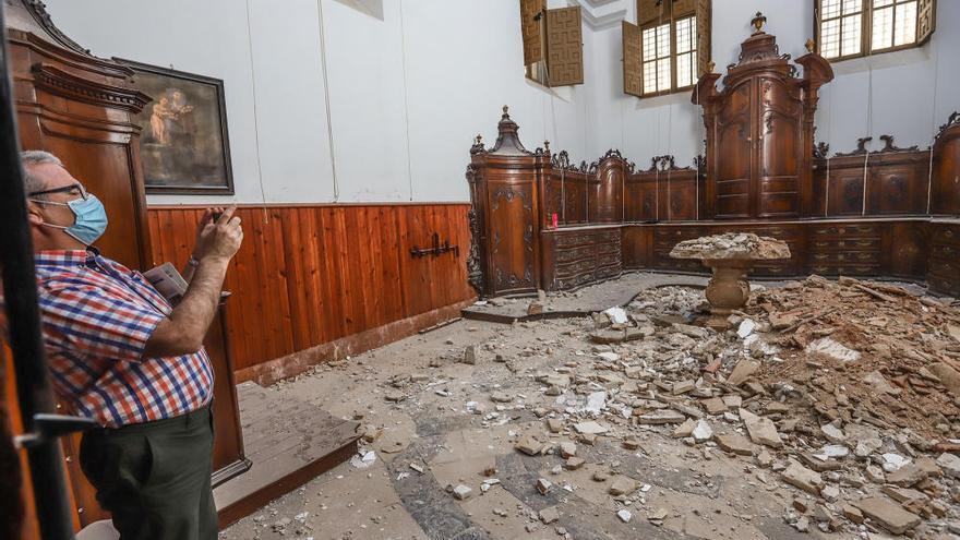Cae la cubierta de la sacristía de la iglesia de las Santas Justa y Rufina de Orihuela