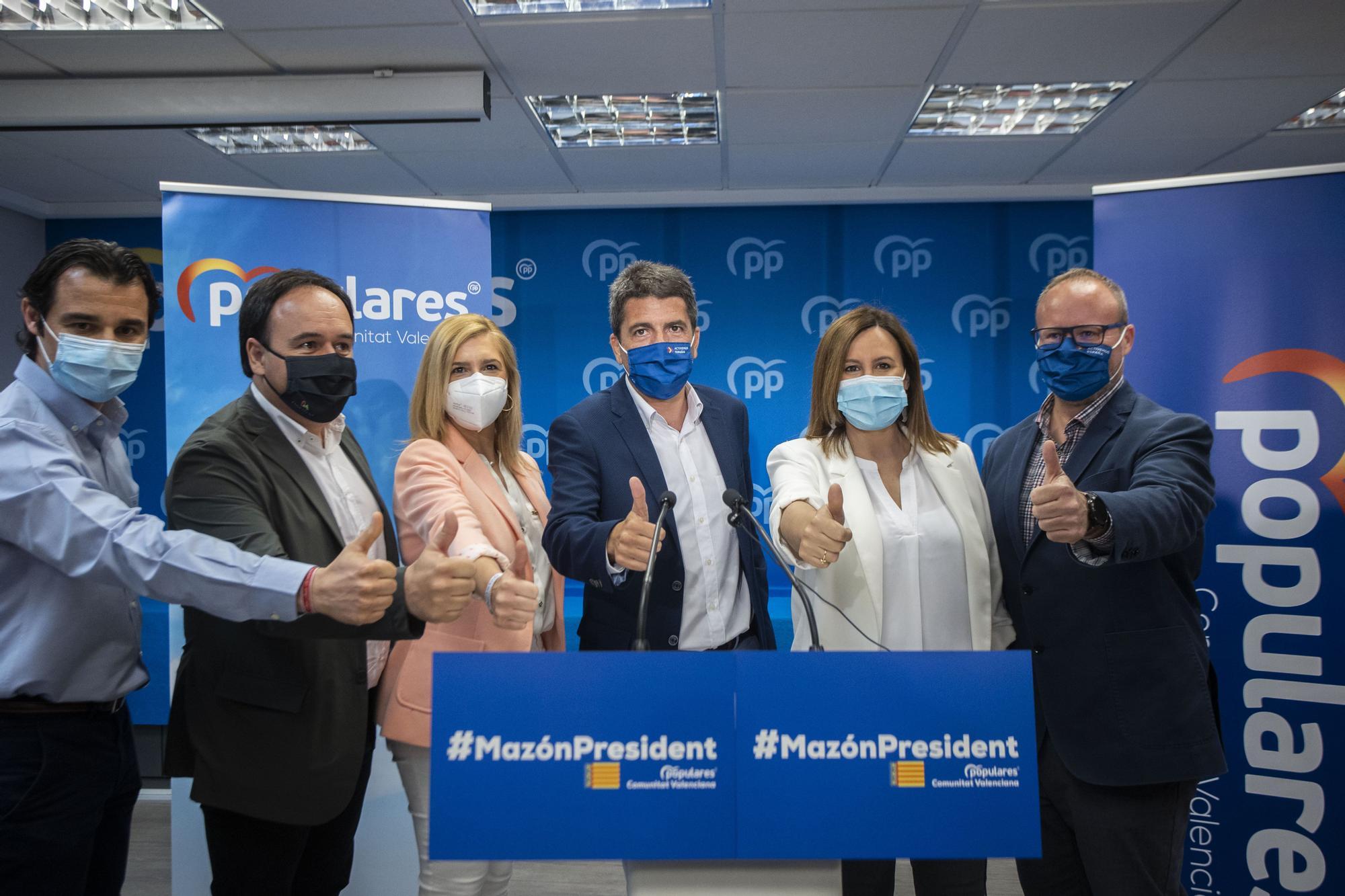 Carlos Mazón se rodea de caras conocidas en la presentación de su candidatura
