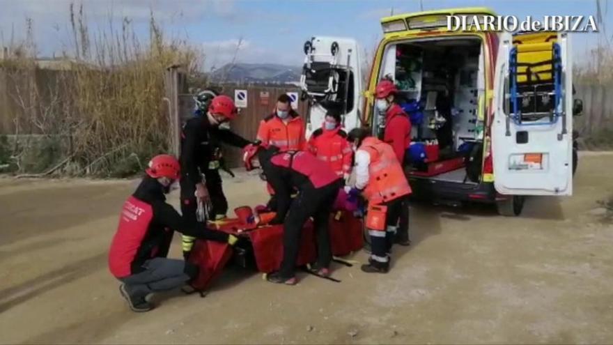 Rescatada una excursionista con una fractura en es Cap des Falcó