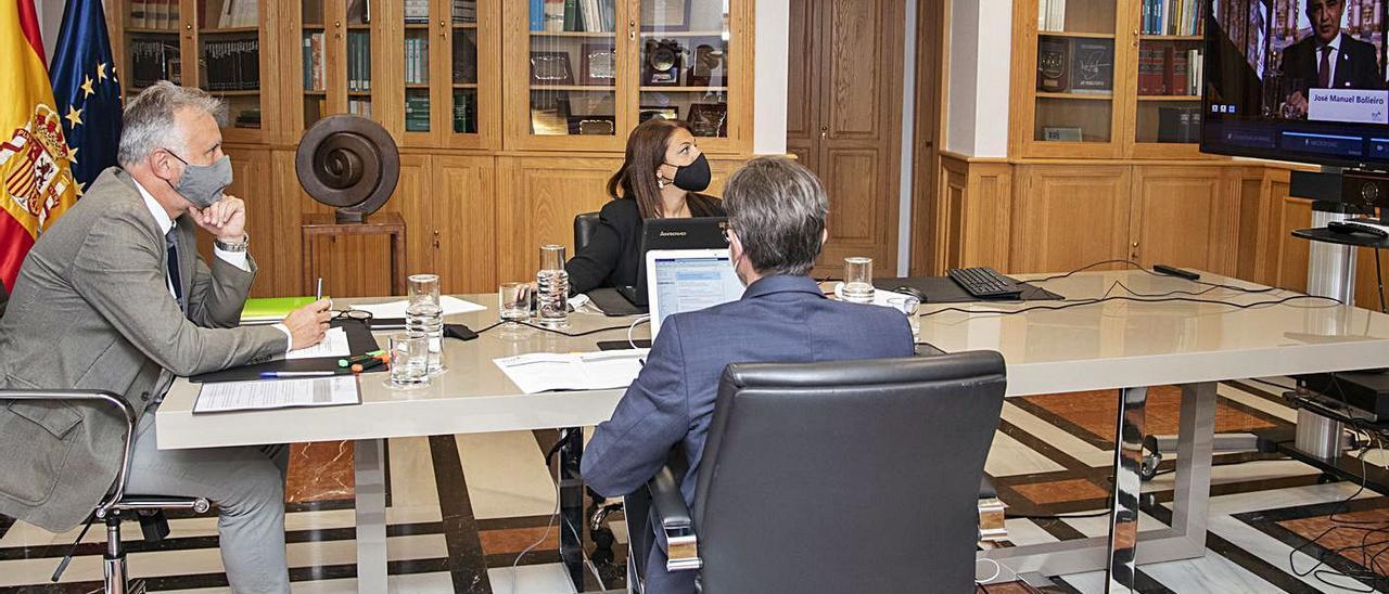 Ángel Víctor Torres asiste ayer a la Conferencia de Presidentes de las Regiones Ultraperiféricas (RUP) de la UE. | | ACFI PRESS